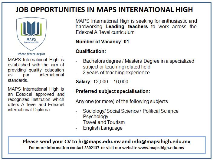 Job Opportunity_Leading Teacher