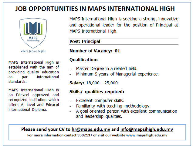 Job Opportunity_Principal