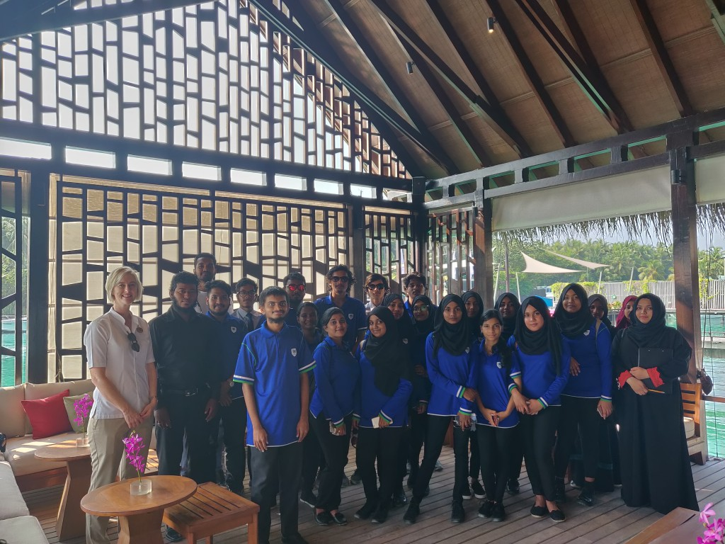 MAPS International High students visits One&Only Reethi Rah Resort as part of their Industry Exposure