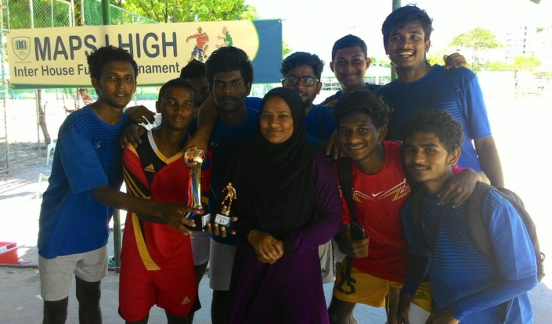 'ACHIEVERS' win the MAPS International High Inter-House Futsal Tournament 2015